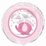Pink Elephant Baby Shower 18 Inch Foil