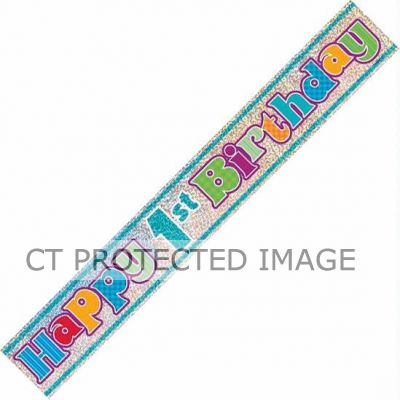 12ft 1st Birthday Prismatic Banner