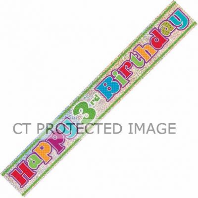 12ft 3rd Birthday Prismatic Banner