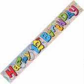 12ft 12th Birthday Prismatic Banner