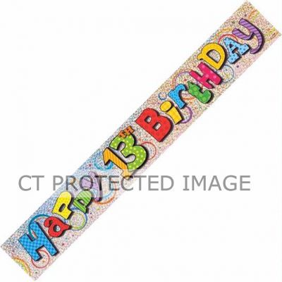 12ft 13th Birthday Prismatic Banner