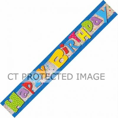 12ft Wacky Birthday Prismatic Banner