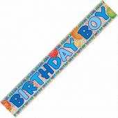 12ft Birthday Boy Prismatic Banner