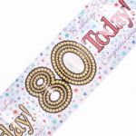 2.7mx20cm Age 80 Unisex Banner