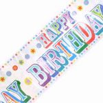 2.7mx20cm Birthday Circus Banner