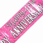 2.7mx20cm Ruby Anniversary Banner