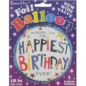 Birthday Generic 18 Inch Foil Balloon
