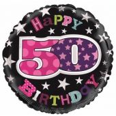 50th Birthday Female 18 Inch Foil Balloon