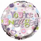 Engaged 18 Inch Foil Balloon