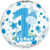 1st Birthday Boy 18 Inch Foil Balloon