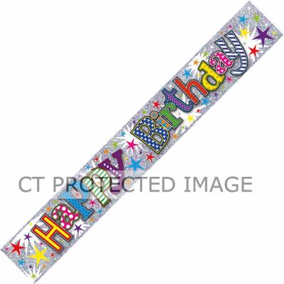 Adult Birthday 9ft Foil Banner