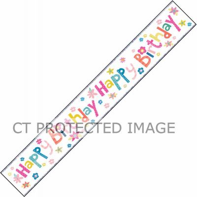 Birthday Girl 9ft Foil Banner