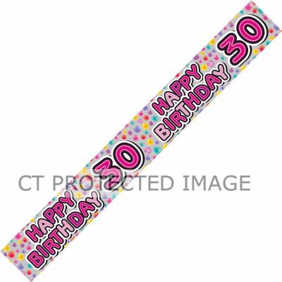 30th Birthday Female Holographic 9ft Banner
