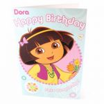 Dora Open Birthday Birthday Greetings Card