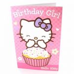 Hello Kitty Open Birthday Greetings Card