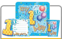 1st Birthday Boy party products