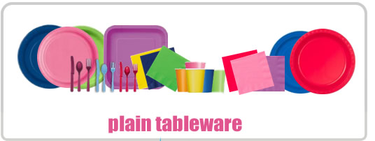 plain coloured partyware products