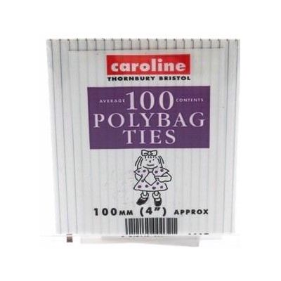 Polybag Ties   (pack quantity 100) X10
