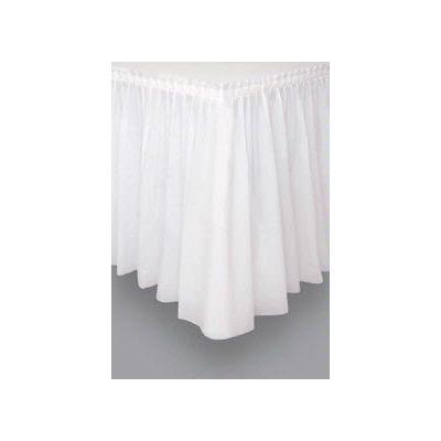 White Plastic Tableskirt