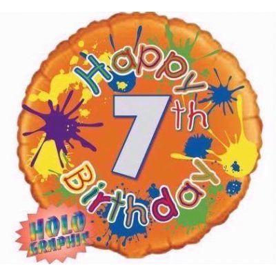 18 Inch 7th Birthday Foil Balloon