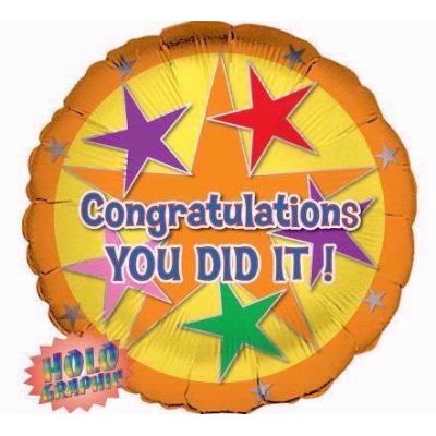 Congratulations You Did It Foil Balloon | Foil Balloons ...