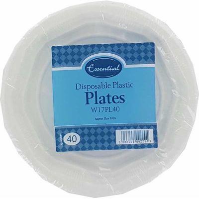 17cm Plastic Plates (packquantity40)