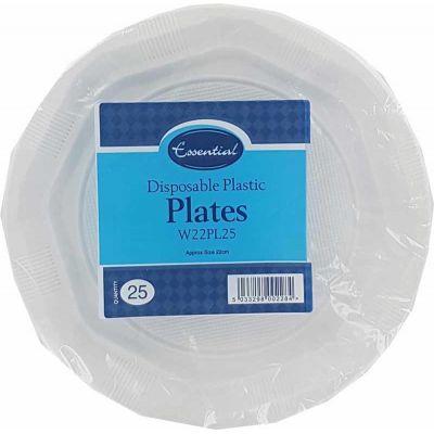 22cm Plastic Plates (packquantity25)