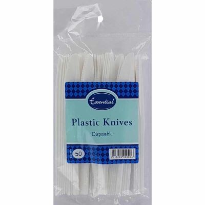 Plastic Knives (pack quantity 50)