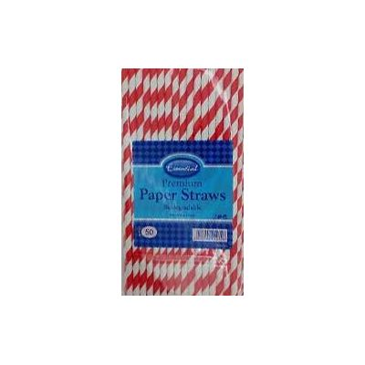 10cm Biodegradable Paper Straws (packquantity50)