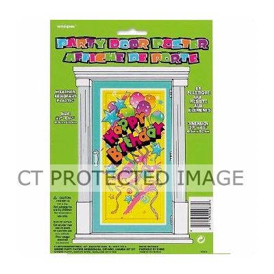 Happy Birthday Door Poster Buy Party Supplies And Party
