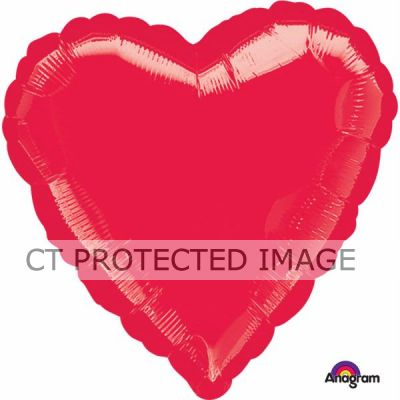 18 Inch Metallic Red Heart Foil