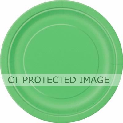 9 Inch Lime Green Plates (packquantity16)
