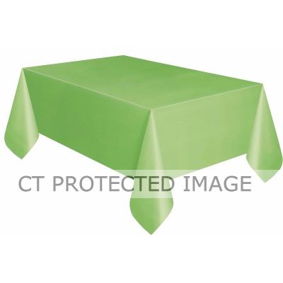 Compact Pkg Lime Green Plastic Tablecover