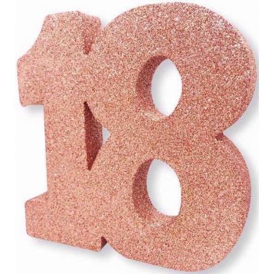 No. 18 Rose Gold Glitter Table Dec