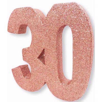 No. 30 Rose Gold Glitter Table Dec