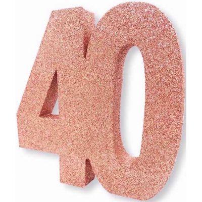No. 40 Rose Gold Glitter Table Dec