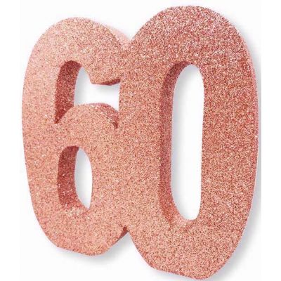 No. 60 Rose Gold Glitter Table Dec
