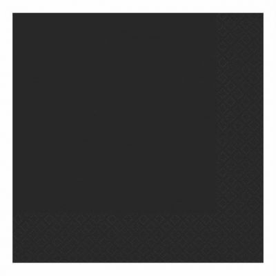 2ply Black Luncheon Napkins (pack quantity 20)
