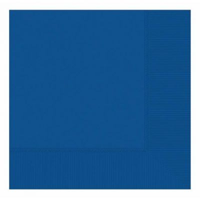 33cm 2ply Royal Blue 33cm Napkins (packquantity20)