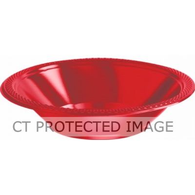 355ml Red Plastic Bowls (pack quantity 20)