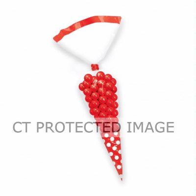Red Dots Cone Shaped Bags (pack quantity 10)