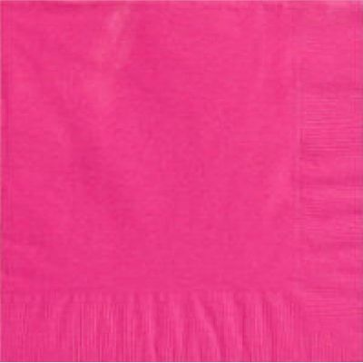 2ply Bright Pink Dinner Napkins (packquantity20)