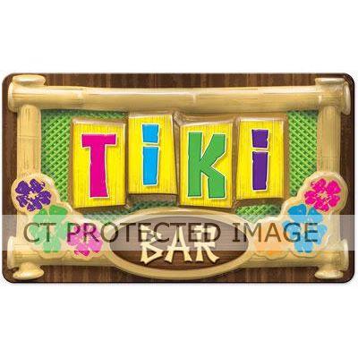 3d Plastic Tiki Bar Sign