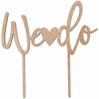 We Do Wooden Cake Topper