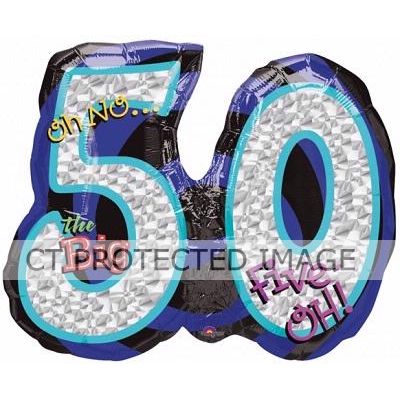 Oh No It's My Birthday 50th Super Shaped Foil Balloon