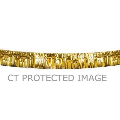 6m Gold Metallic Fringe Decoration