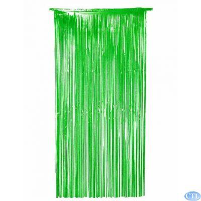 36x72 Inch Green Foil Door Curtain