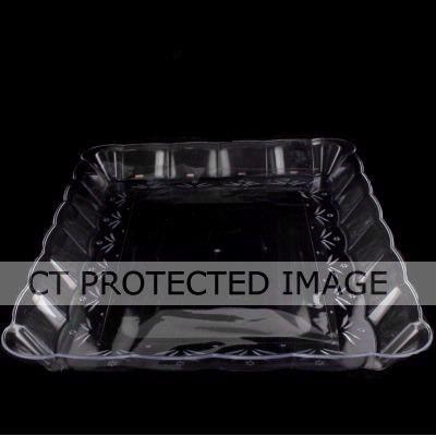 23cmx33cm Crystal Rect Tray
