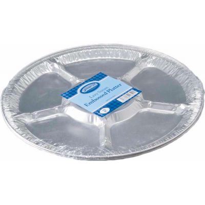 14 Inch Silver Lazy Susan Platters (packquantity2)