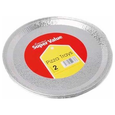 31cm Silver Pizza Trays (packquantity2)